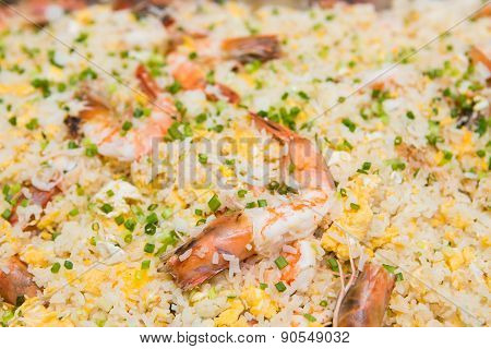 Fried Rice With Shrimp And Sea Crab Meat