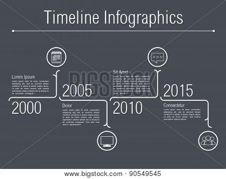 Minimal Timeline Infographics