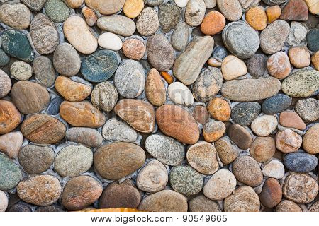 colorful round stones, wall background