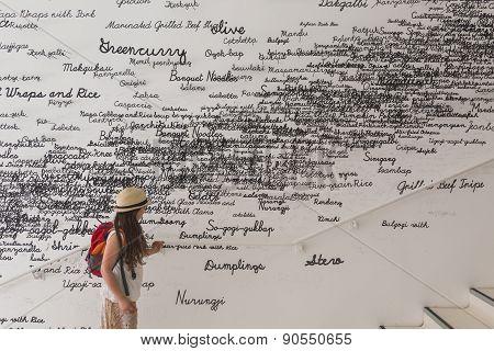 Girl Visiting Korea Pavilion At Expo 2015 In Milan, Italy