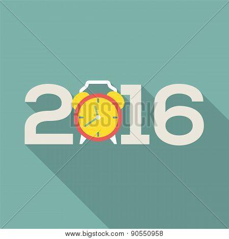 2016 Greeting Card Flat Design.