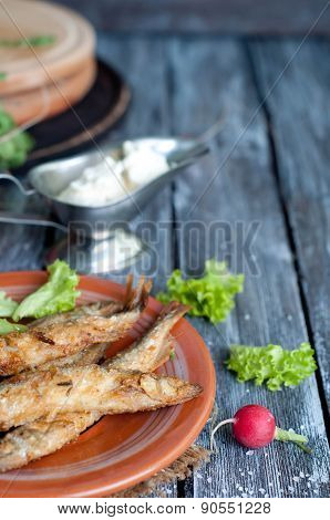 Fried Fish Capelin