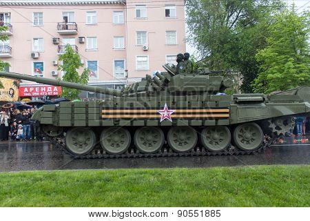 Donetsk - May 9, 2015: Military Equipment Donetskoy People's Republic