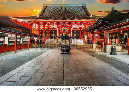 Sensoji Temple (Asakusa Kannon) in Tokyo Japan