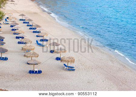 Beach Metalia on island Thassos/Greece