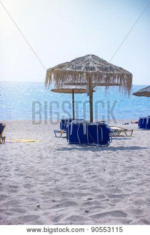Afternoonon on sandy beach