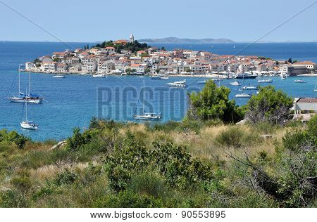Primosten. A Small Mediterranean City On The Croatian Coastline