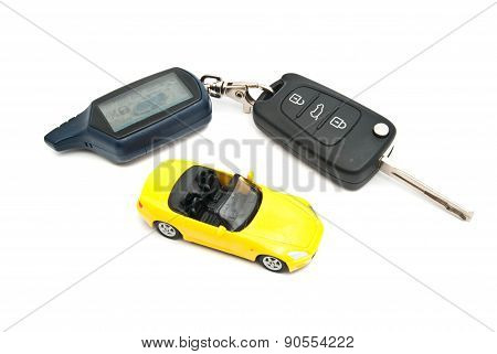 Yellow Car And Keys