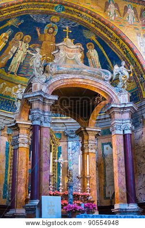 Interior Of Roman Church, Rome, Italy