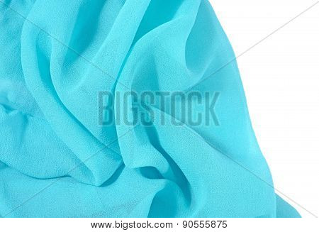 Blue Crepe De Chine Fabric