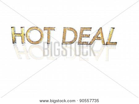 Word Hot Deal Made From Percentage Symbols.