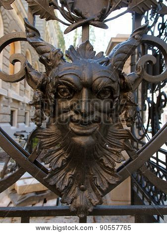 The head of the gate of the palace in Lodz.