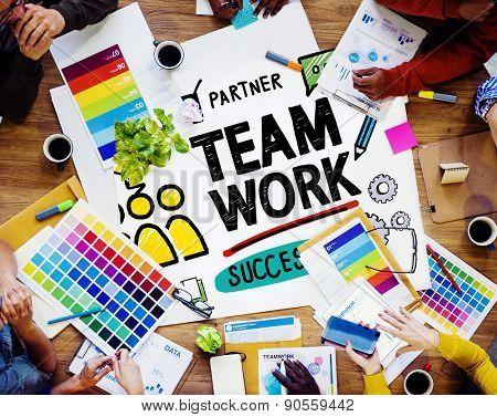 Team Teamwork Group Collaboration Organization Concept