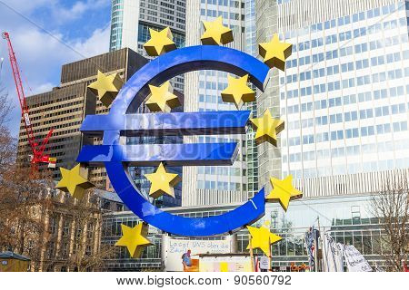 Famous Euro Sign In Frankfurt