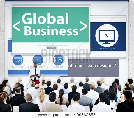 Business People Global Business Presentation Concept