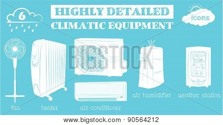 climatic equipment  blue