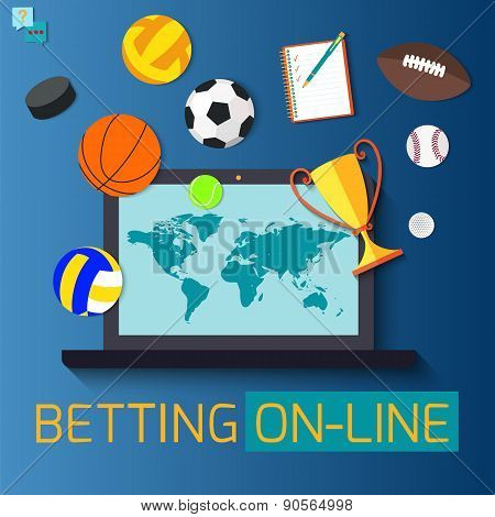 Concept for web banner sports betting statistics.