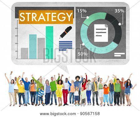 Strategy Tactics Ideas Goal Business Achievement Concept