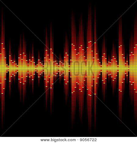 Sound waveform. Seamless illustration.