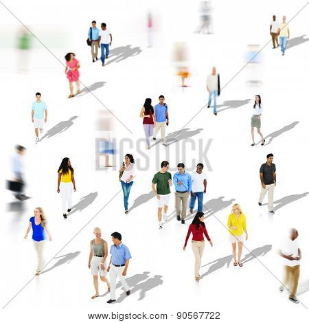 Diverse Diversity Ethnic Ethnicity Togetherness Variation Crowd Concept