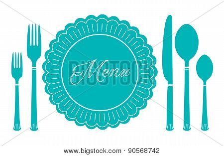 plate knife and fork icon. Menu sign