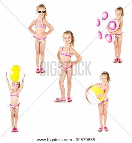 Collection Of Photos Cute Little Girl With Bal