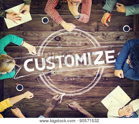 Customize Customization Development Conference Concept