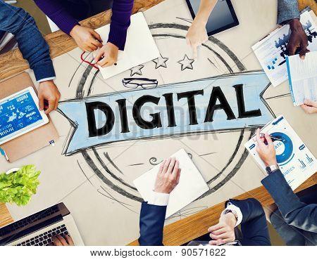 Digital Internet Global Communication Togetherness Concept