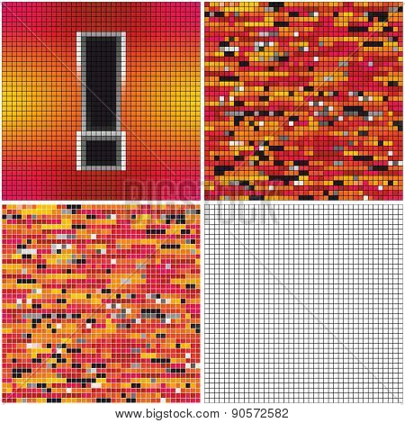 Exclamation Mark (mixed Mosaic)