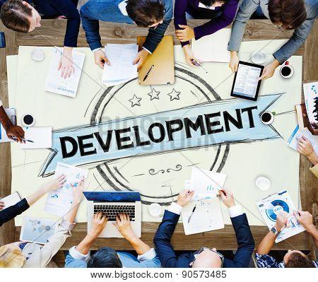 Development Improvement Advancement Growth Progress Concept