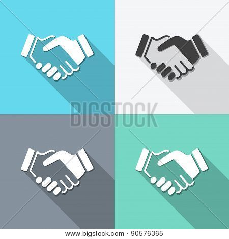 Flat Handshake Backgrounds