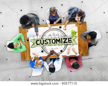 Customize Personalize Individual Modified Tasks Service Concept