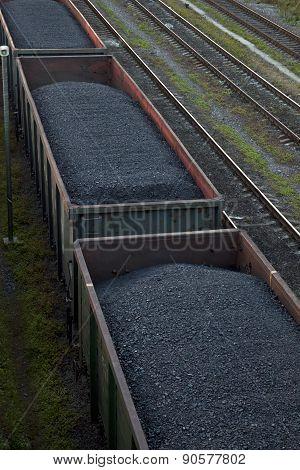 Cargo Cars Carrying Coal