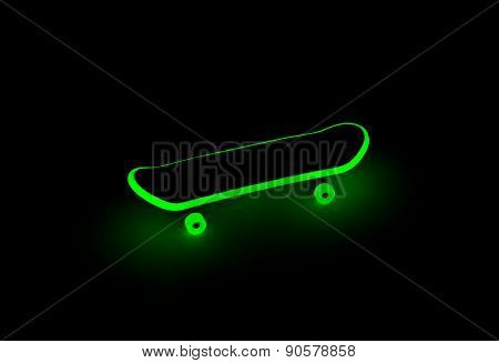 Fingerboard Glowing In The Dark