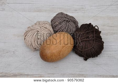 Darning Egg And Wool
