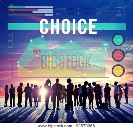 Choice Choices Decision Direction Marketing Concept