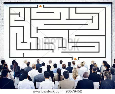 Maze Direction Decision Way Out Solution Thinking Planning Concept