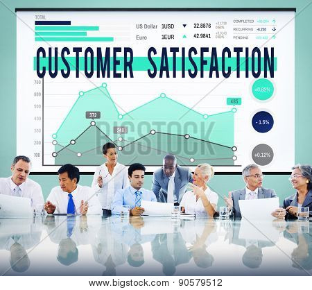 Customer Satisfaction Support Service Reliable Concept