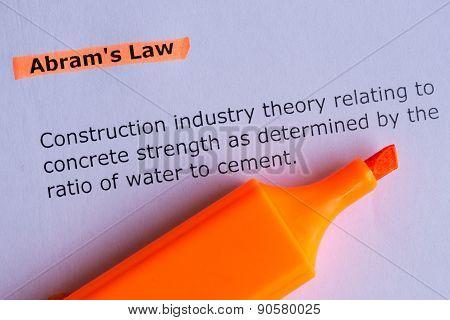 Abram's Law