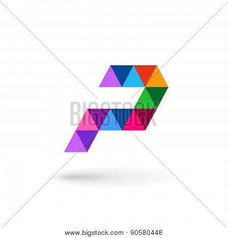 Letter P Mosaic Logo Icon Design Template Elements