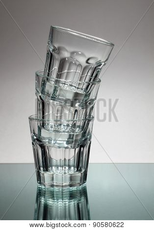 Tower Of Vodka Glasses