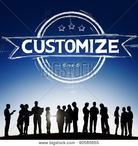 Customize Personalize Individualize Service Products Concept