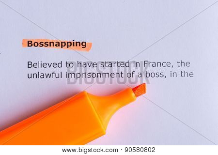Bossnapping