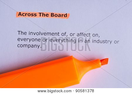 Acroos The Board