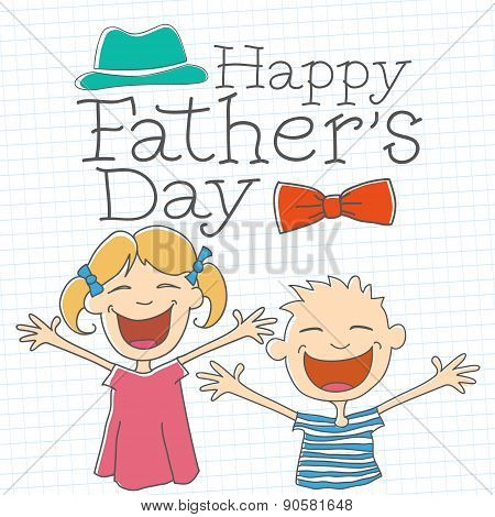 Happy Father's Day with Children