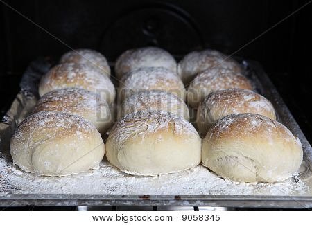 Bread Rolls In The Oven