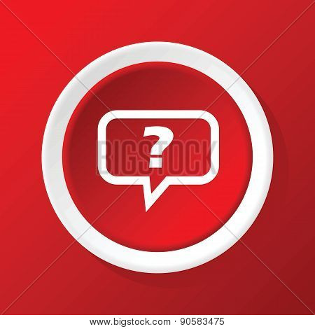 Question icon on red