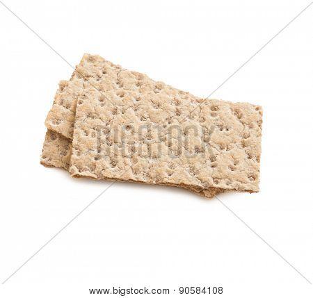 crispbread isolated on white background
