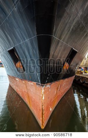 Bow Of A Big Ship