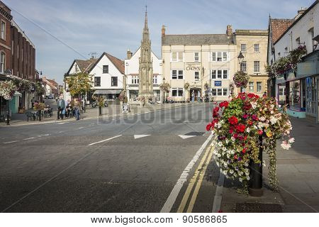 Market Place, Glastonbury, Uk